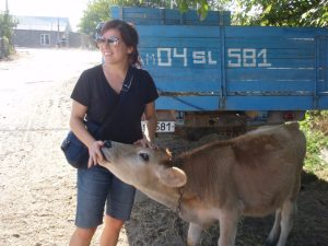 """Lena jan, I can understand not eating animals, but look around you—you can see the cows walking around freely. Yes we eat them eventually, but do you think how we get the milk is the same as in Canada? Armenia is not as big as Canada. You can see and visit the farms, like this one."""