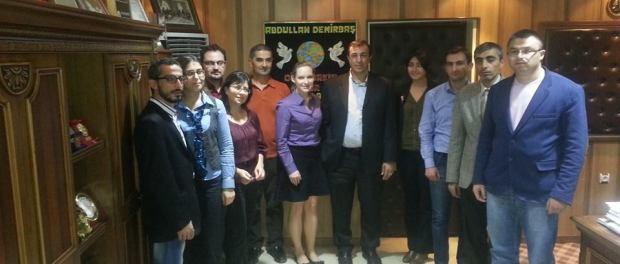 The journalists with Diyarbakir Sur Municipality Mayor Abdullah Demirbas