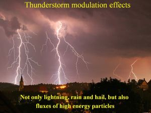 Thunderstorm modulation effects