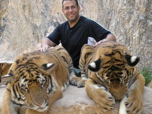 Ric Gazarian finds the tigers in India quite friendly during his travels abroad.