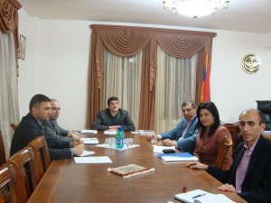 FCHA representatives meeting with Ara Haroutyunyan and Artsakh government representatives.