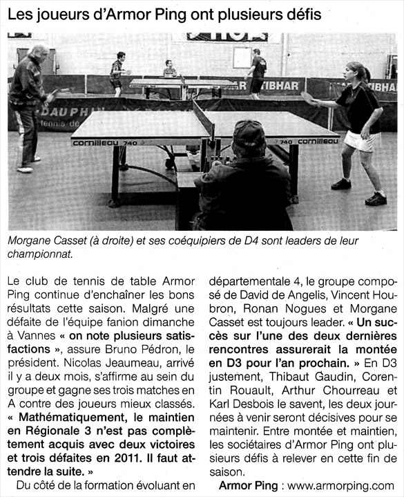 Ouest-France 24.03.2011