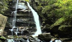 Hiking Big Bradley Falls Saluda, NC