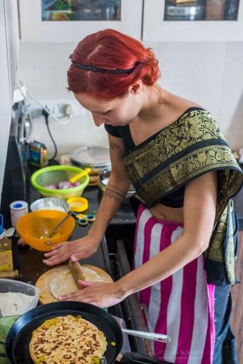 Franzi beim Kochen