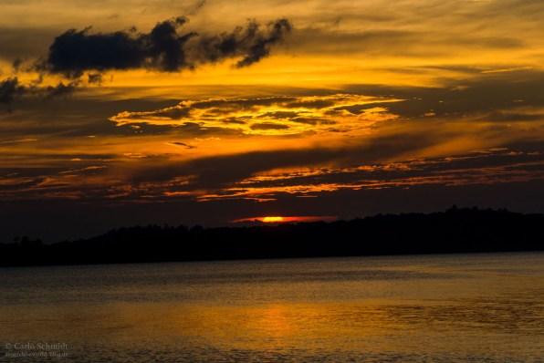 Sonnenuntergang am Blue Planet Beach