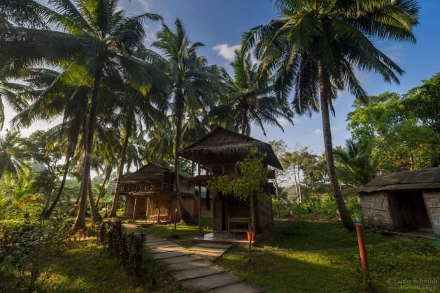 unsere Bambushütte