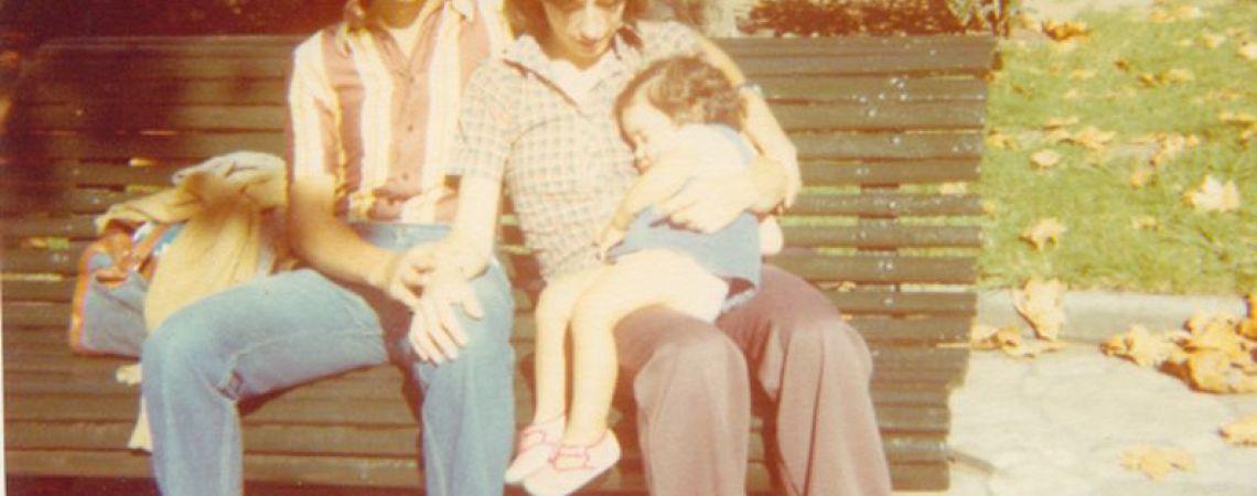 Claudio, Mónica y Paula en Montevideo