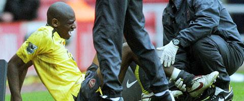 Diaby was seriously injured against Sunderlund