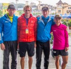 Happy team after finishing 4th on the prologue.
