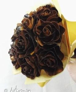 Bouquet di rose in legno - shop Artamin