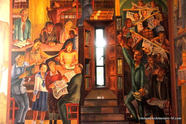 Bernard b zakheim public art and architecture from for Coit tower mural artists