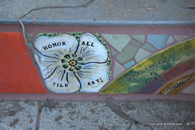 Mosaic Tile Stairway Art
