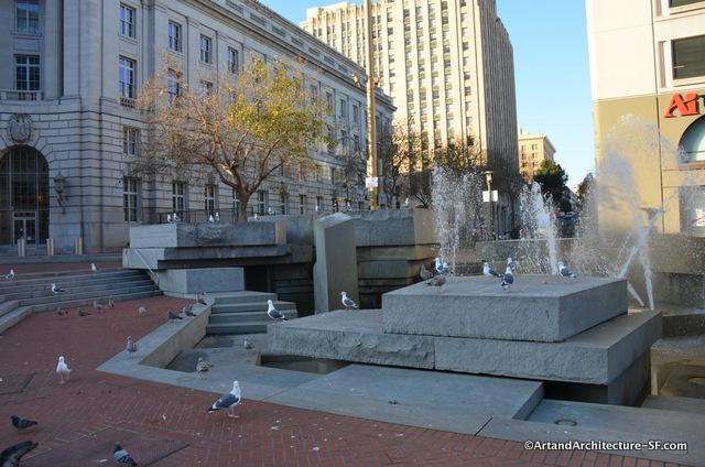 Lawrence Halprin UN Plaza fountain