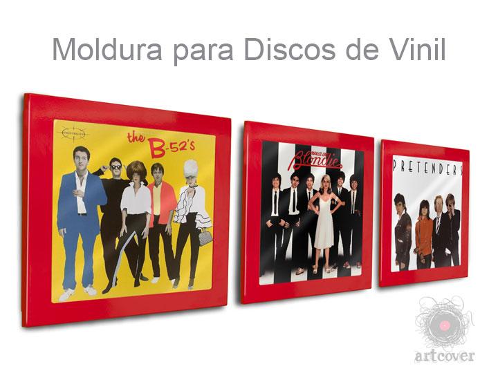 Moldura Para Disco Vinil Vermelho 01