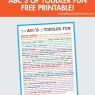 ABC's of Toddler Fun | Toddler Activities Free Printable