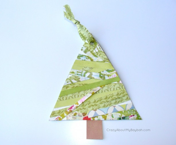 Christmas Tree Ornament -  25 Winter and Christmas Crafts for Kids #Toddlers #Preschoolers #Homeschool