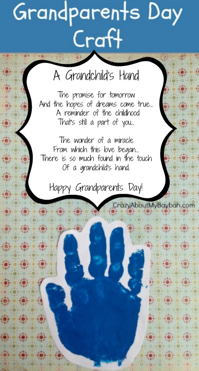 Easy Grandparents Day Craft for Kids | Handprint Craft