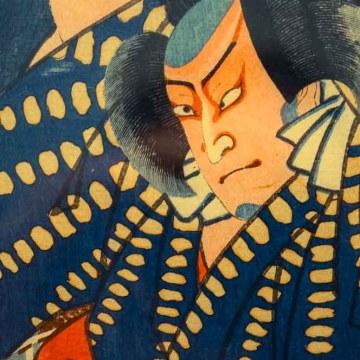 Utagawa Kuniaki. El campesino Yokozo