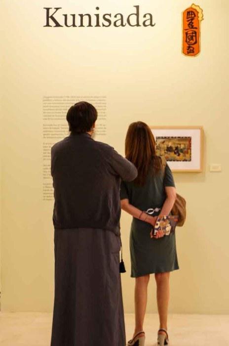 Utagawa Kunisada, el grabador mejor representado de la exposición.