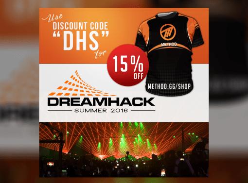 Promotional Banner (Dreamhack) for Method Gaming