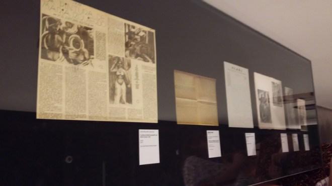 Matérias sobre as artistas da exposição