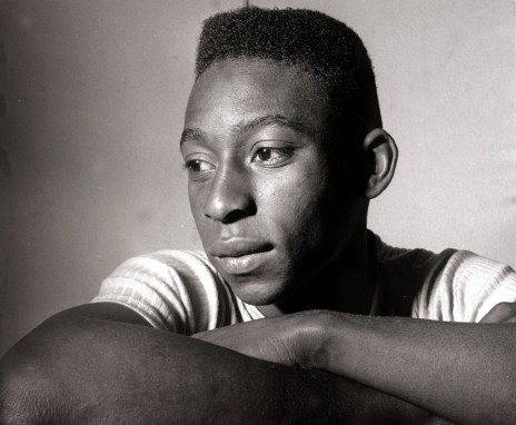 Sport. Football. circa 1958. Brazil's young internatiopnal star Pele, portrait. Pele was perhaps the most famous footballer of all time and featured in 4 World Cups,forced out of the finals in Chile in 1962 and England in 1966 through injury he won 2 Worl