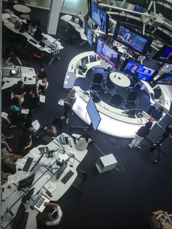Annenberg Media Center converged newsroom