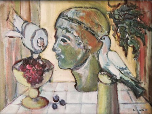 Buste aux deux pigeons Collection particulière02