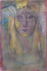 H14 (réservé) - Le masque et la main '30 x 20 cm)