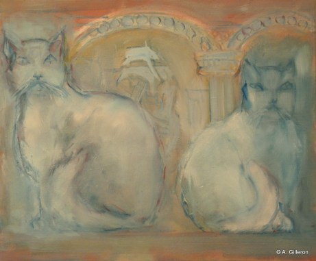 026 - Chats au bas-relief - 46 x 55 cm - 320 €