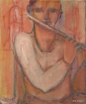 H47 (réservé)- Flûte solo (41 x 33 cm)