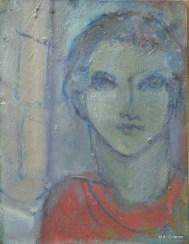 H66 (réservé) - Ephèbe à la colonne (35x27 cm)