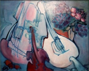 AET DA - Trois instruments et des fleurs 60 x 73 cm 02