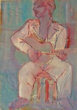 AET Guitariste blanc 92 x 65 cm 03