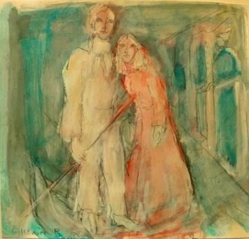 couple amoureux, ambiance verte