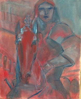 Condottiere vénitien Huile sur toile l50 x L61 cm