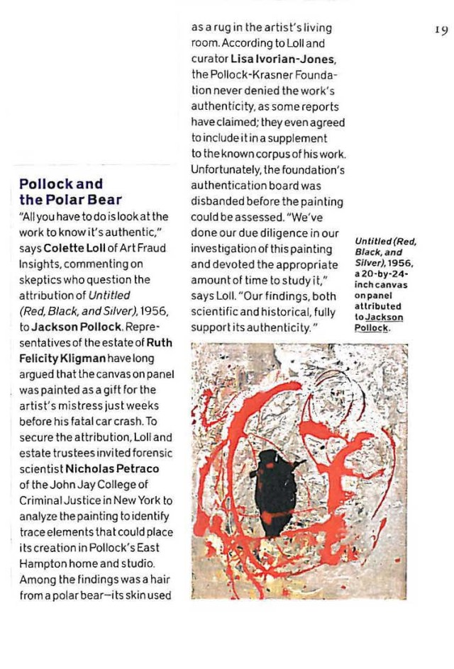 Pollock and the Polar Bear_Blouin Art-Auction February 2016-articleonly