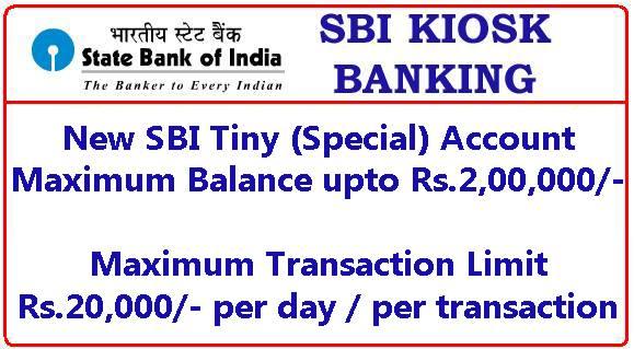 New SBI Tiny Special OD Account
