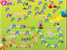 Candy Crush presents you with a challenge path.