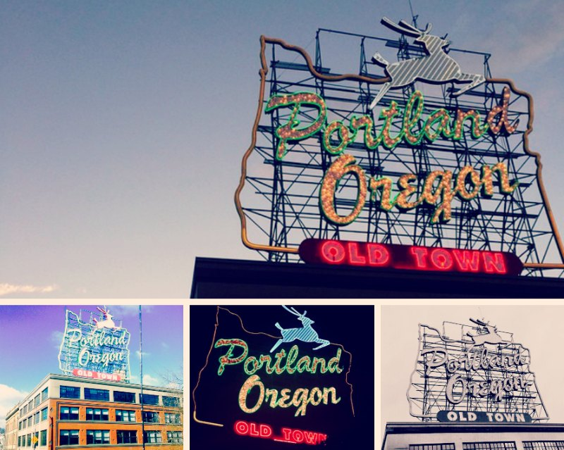 portland oregon photos made in oregon sign
