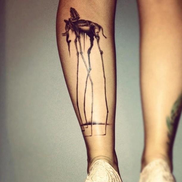 tattoo, Dahli, The Elephants