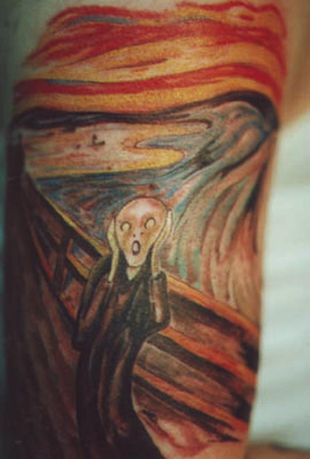 tattoo, The Scream