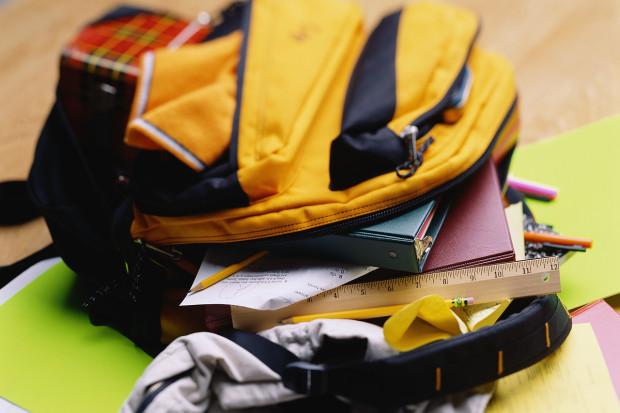 overflowing backpack