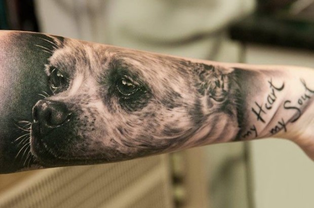 dog tattoo