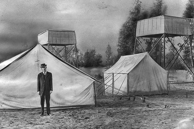 Hatfield at camp