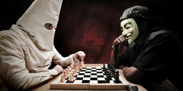 Anonymous KKK chess match