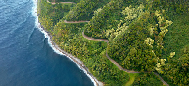 bicycle routes: Road to Hana, Hawaii