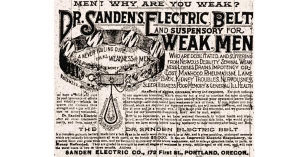 medical history: electric belt for weak men