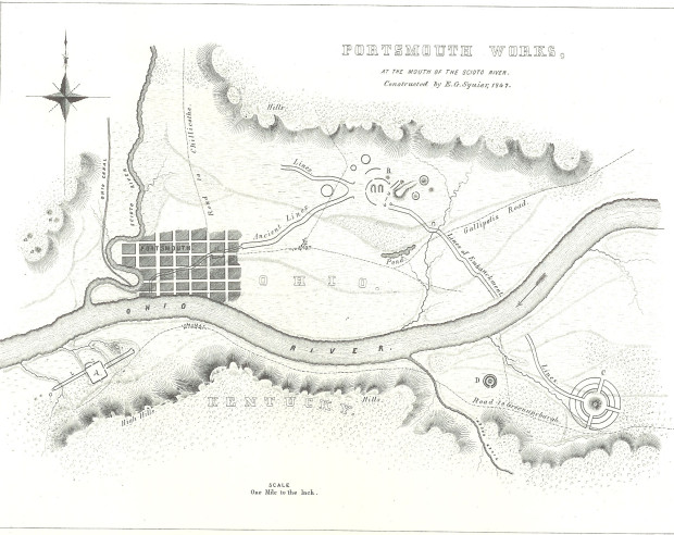 Portsmouth Earthworks: Map of earthworks