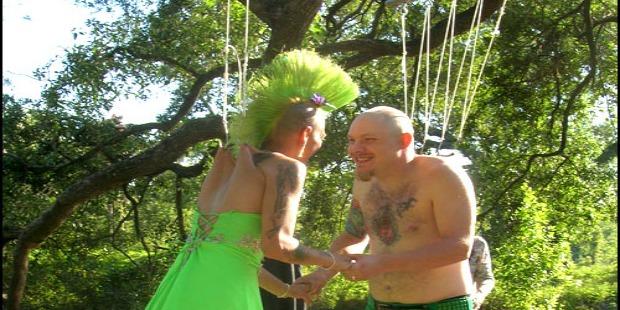 crazy weddings: body suspension